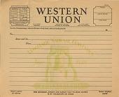 view [Blank telegram form for Democratic National Convention, 1936. Philadelphia, Pennsylvania] [printed form.] digital asset: [Blank telegram form for Democratic National Convention, 1936. Philadelphia, Pennsylvania: printed form.]