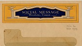 view Social Message / Western Union [blank form & envelope] digital asset: Social Message / Western Union [blank form & envelope].