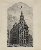 view The Western Union Telegraph Building [black-and-white graphic arts print] digital asset number 1