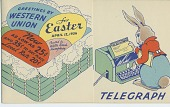 view Greetings by / Western / Union / for / Easter / April 12, 1936. [blank form,] digital asset: Greetings by / Western / Union / for / Easter / April 12, 1936. [blank form,]
