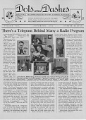"""view Dots and Dashes Newsletter, November 1932, with headline, """"There's a Telegram Behind Many a Radio Program."""" [Newsletter: front page] digital asset: Dots and Dashes Newsletter, November 1932, with headline, """"There's a Telegram Behind Many a Radio Program."""" [Newsletter: front page]"""