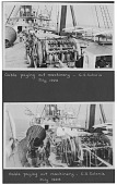 view Cable Paying Out Machinery -- C.S. Colonia / July 1926 [scrapbook: scrapbook page with two photoprints] digital asset: Cable Paying Out Machinery -- C.S. Colonia / July 1926 [scrapbook: scrapbook page with two photoprints]