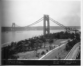 view Hudson River Bridge (George Washington Bridge) [photoprint] digital asset: Hudson River Bridge (George Washington Bridge) [photoprint],