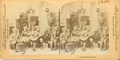 view Gilmore's band [picture stereograph postcard.] digital asset: Gilmore's band [picture stereograph postcard.]
