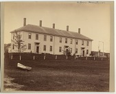 view [Tenement House for Fishermen's Widows : black and white photoprint.] digital asset: [Tenement House for Fishermen's Widows : black and white photoprint.]