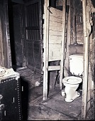 view [Interior with toilet : photonegative] digital asset: [Interior with toilet : photonegative]
