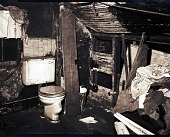 view [Interior with toilet, photonegative] digital asset: [Interior with toilet, photonegative]