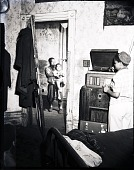 view [Interior with children and radio : photonegative.] digital asset: [Interior with children and radio : photonegative.]