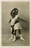 view Le Cake-Walk / Danse au Nouveau Cirque. Les Enfants Negres. 142/3 [Real photo postcard] digital asset: David Hoffman/Boaz Postcard Collection