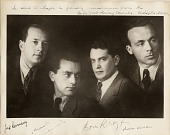 view Budapest String Quartet [photoprint] digital asset: Budapest String Quartet [photoprint].