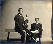 view Rudolph Wurlitzer and Emil Heermann [photoprint] digital asset: Rudolph Wurlitzer and Emil Heermann [photoprint].