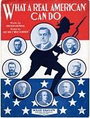 view What a Real American Can Do [sheet music] digital asset: What a Real American Can Do [sheet music], 1917.