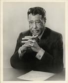 view [Duke Ellington portrait : black-and-white photoprint] digital asset: [Duke Ellington portrait : black-and-white photoprint], 1969.