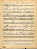 view Diminuendo in Blue [p. 1 of handwritten score] digital asset: Diminuendo in Blue [p. 1 of handwritten score].