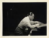 view [Duke Ellington composing at the piano : black-and-white photoprint.] digital asset: [Duke Ellington composing at the piano : black-and-white photoprint.]