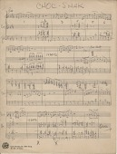 """view Choc[olate] Shake [from """"Jump for Joy"""" : music manuscript] digital asset: Choc[olate] Shake [from """"Jump for Joy"""" : music manuscript]."""
