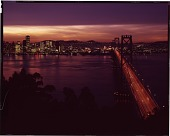view Oakland-Bay Bridge, San Francisco [chromogenic color transparency] digital asset: Oakland-Bay Bridge, San Francisco [chromogenic color transparency]