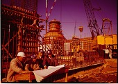 view [Nuclear reactor under construction : color photoprint] digital asset: [Nuclear reactor under construction : color photoprint].