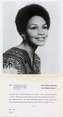 view [African American woman model for Noxzema Skin Cream : black and white photoprint] digital asset: [African American woman model for Noxzema Skin Cream : black and white photoprint].