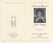 view Sarah Vaughan Memorial Program digital asset: Sarah Vaughan Memorial Program: 1990.