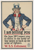 view I Am Telling You--On June 28th I Expect You to Enlist Inthe Army of War Savers to Back Up My Army of Fighters. W. S. S. Enlistment. digital asset: I Am Telling You--On June 28th I Expect You to Enlist Inthe Army of War Savers to Back Up My Army of Fighters. W. S. S. Enlistment