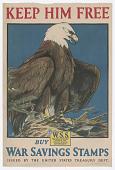 view Keep Him Free Buy War Savings Stamps digital asset: Keep Him Free Buy War Savings Stamps