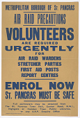 view Volunteers Are Required Urgently for Air Raid Wardens Stretcher Parties First Aid Posts Report Centres digital asset: Volunteers Are Required Urgently for Air Raid Wardens Stretcher Parties First Aid Posts Report Centres