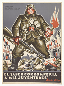 """view Quote from Hitler: """" 'El Saber Corromperia a mis juventudes' Adolfo Hitler"""" digital asset: Quote from Hitler: """" 'El Saber Corromperia a mis juventudes' Adolfo Hitler"""""""