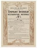 view Emprunt Interieur de Restauration Nationale digital asset: Emprunt Interieur de Restauration Nationale