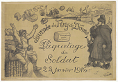 view Journée du Puy de Dôme. Paquetage du soldat, 23 janvier 1916 digital asset: Journée du Puy de Dôme. Paquetage du soldat, 23 janvier 1916