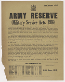 view Army Reserve ... (June 3, 1916) digital asset: Army Reserve ... (June 3, 1916)