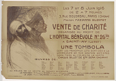 view Les 7 et 8 juin 1916...Vente de charité organisée au profit de l'hospital bénévole No. 26 a Saint-Ay (Loiret) digital asset: Les 7 et 8 juin 1916...Vente de charité organisée au profit de l'hospital bénévole No. 26 a Saint-Ay (Loiret)
