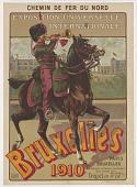 view Princeton University Poster Collection digital asset: Chemin de fer du Nord Exposition Universelle Internationale Bruxelles 1910