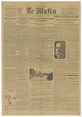 view TROISIEME EDITION Le Matin ... [Headlines include] MORT DU GENERAL GALLIENI[&] LA BATAILLE DE LA MEUSE digital asset: TROISIEME EDITION Le Matin ... [Headlines include] MORT DU GENERAL GALLIENI[&] LA BATAILLE DE LA MEUSE
