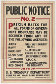 view Public Notice No. 2 ... Government Insurance May Be Secured From Any of the Following Agencies: Army Navy ... Treasury Department. digital asset: Public Notice No. 2 ... Government Insurance May Be Secured From Any of the Following Agencies: Army Navy ... Treasury Department