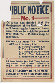 view Public Notice No. 1 Congress Has Decided That the Government of the United States Will Issue Regular Forms of Insurance Policies to Which the Present War Risk Term Policies May Be Converted ... Treasury Department. digital asset: Public Notice No. 1 Congress Has Decided That the Government of the United States Will Issue Regular Forms of Insurance Policies to Which the Present War Risk Term Policies May Be Converted ... Treasury Department
