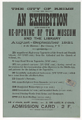 view The City of Reims an Exhibition on the Occasion of the Re-Opening of the Museum and the Library ... digital asset: The City of Reims an Exhibition on the Occasion of the Re-Opening of the Museum and the Library ...