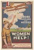 view More Aeroplanes Are Needed / Women Come and Help!... Ministry of Munitions. digital asset: More Aeroplanes Are Needed / Women Come and Help!... Ministry of Munitions