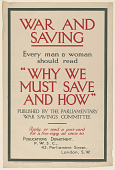 "view War and Saving Every Man & Woman Should Read ""Why We Must Save and How."" ... digital asset: War and Saving Every Man & Woman Should Read ""Why We Must Save and How."" ..."