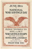 view June 28th is National War Savings Day/ Pledge Yourself to Save and Buy War Savings Stamps.... digital asset: June 28th is National War Savings Day/ Pledge Yourself to Save and Buy War Savings Stamps....