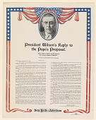 view President Wilson's Reply to the Pope's Proposal ... To Deal With Such a Power by Way of Peace Upon the Plan Proposed by His Holiness the Pope, Would, So Far as We Can See, Involve a Recuperation of Its Strength and a Renewal of Its Policy ... digital asset: President Wilson's Reply to the Pope's Proposal ... To Deal With Such a Power by Way of Peace Upon the Plan Proposed by His Holiness the Pope, Would, So Far as We Can See, Involve a Recuperation of Its Strength and a Renewal of Its Policy ...