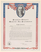 view President Wilson's Memorial Day Proclamation ... (May 11, 1918) digital asset: President Wilson's Memorial Day Proclamation ... (May 11, 1918)