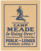 view Camp Meade is Going Over! Action Pictures of 2000 Men Public Ledger Sunday April 7 digital asset: Camp Meade is Going Over! Action Pictures of 2000 Men Public Ledger Sunday April 7