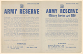 view Army Reserve ... Required to Report Themselves on Such Date and at Such Place as May Hereafter Be Directed ... A: Schedule / All Men of the 1st Group as and When They Attain 19 Years of Age ... B: Schedule / All Men of the 1st Class (i.e., Men Born in ... digital asset: Army Reserve proclamation / 26 February 1916