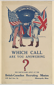 view Which Call Are You Answering? For Particulars Apply at the British-Canadian Recruiting Mission ... British and Canadian Recruiting Mission. digital asset: Which Call Are You Answering? For Particulars Apply at the British-Canadian Recruiting Mission ... British and Canadian Recruiting Mission