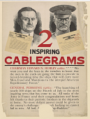 """view 2 Inspiring Cablegrams Chairman Edward N. Hurley Cables: """"... The Men in the Yards Are Going to the Limit ..."""" General Pershing Replies: ... (June 26-27, 1918). United States Shipping Board, Emergency Fleet Corporation. digital asset: 2 Inspiring Cablegrams Chairman Edward N. Hurley Cables: """"... The Men in the Yards Are Going to the Limit ..."""" General Pershing Replies: ... (June 26-27, 1918). United States Shipping Board, Emergency Fleet Corporation"""