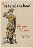 view Yes Sir - I Am Here! Recruits Wanted Motor Corps of America digital asset: Yes Sir - I Am Here! Recruits Wanted Motor Corps of America