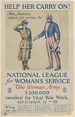 view Help Her Carry On! National League for Woman's Service / The Woman Army $200,000 Needed for Vital War Work ... (September 17-28) digital asset: Help Her Carry On! National League for Woman's Service / the Woman Army $200,000 Needed for Vital War Work ... (September 17-28)