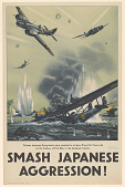 view Thirteen Japanese Flying Boats Were Smashed in a Heavy Royal Air Force Raid on the Harbour of Port Blair in the Andaman Islands . Smash Japanese Aggression! digital asset: Thirteen Japanese Flying Boats Were Smashed in a Heavy Royal Air Force Raid on the Harbour of Port Blair in the Andaman Islands . Smash Japanese Aggression!