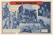 view War Pictorial 1. Pneumatic Drills in Action ... digital asset: War Pictorial 1. Pneumatic Drills in Action ...
